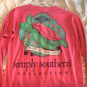 simply southern pink long sleeve tee